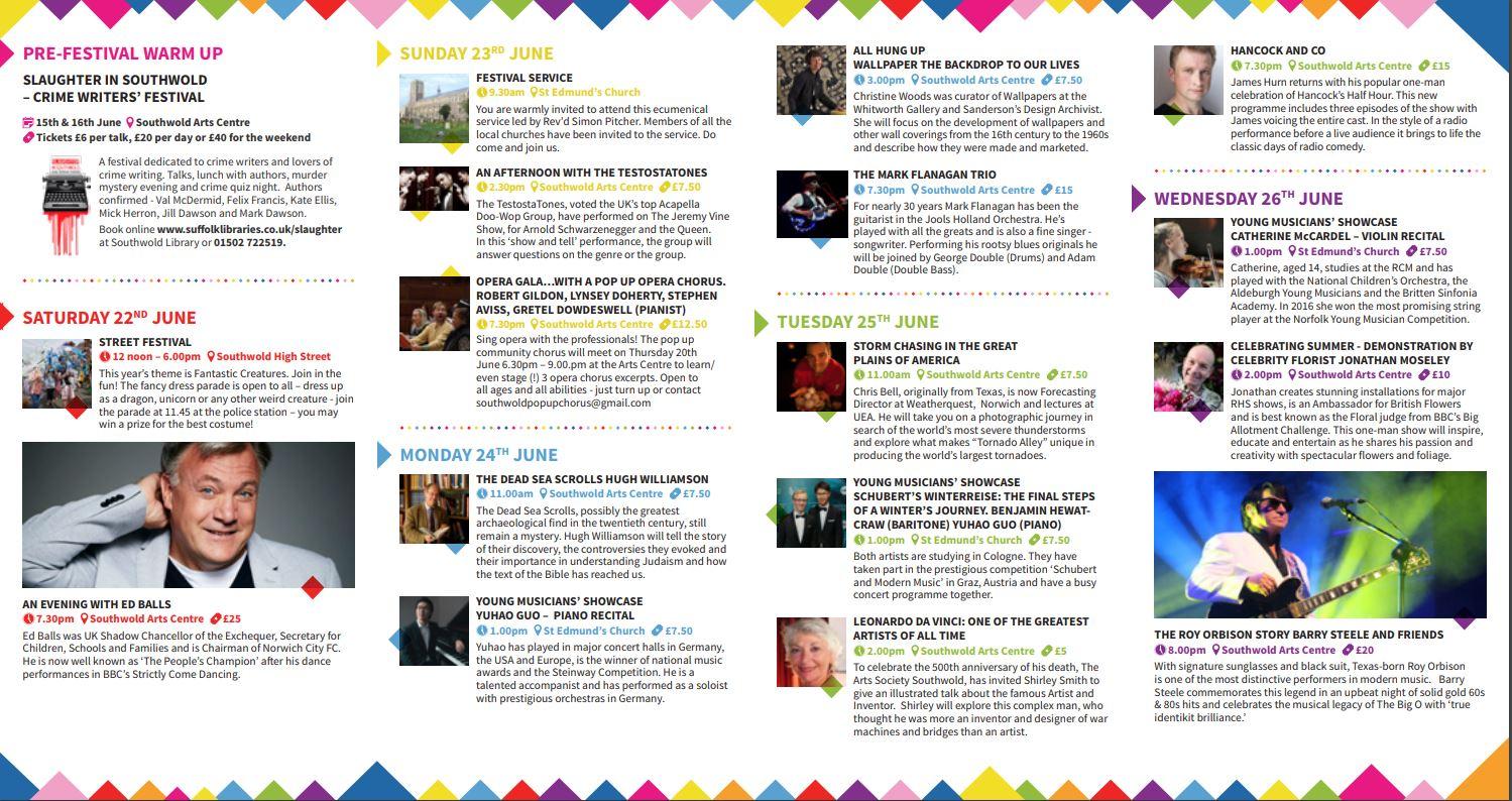 Southwold Arts Festival 2019 | June 22nd - 29th June